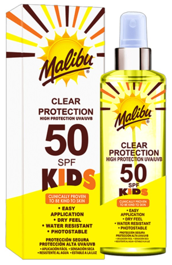 SPF50 Kids Clear Spray available on LocoSoco