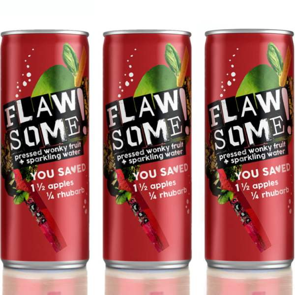Flawsome - Apple and Rhubarb - Multi Pack 250ml x 8 - Available on LocoSoco