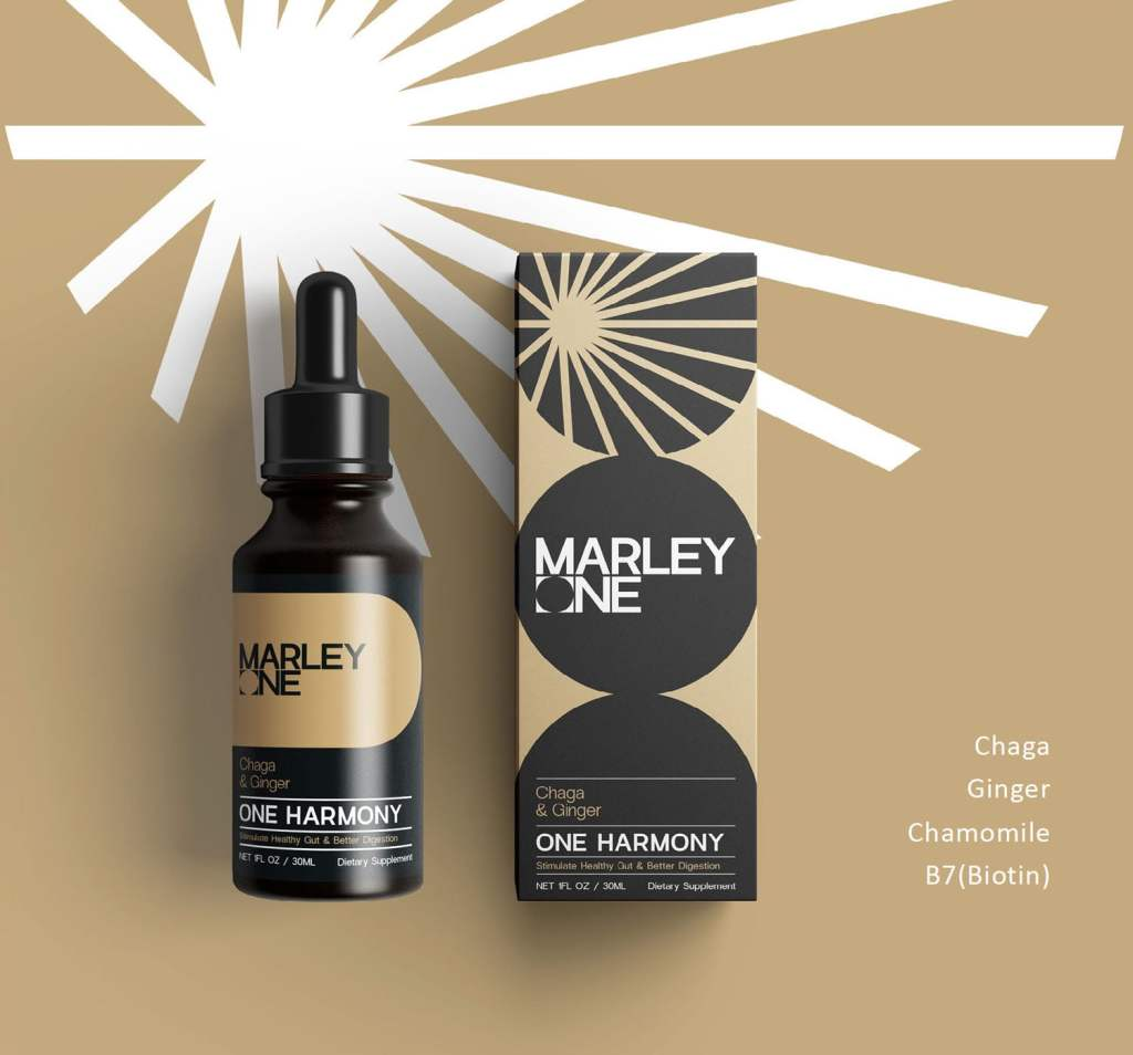 One Harmony by Marley One - Available From LocoSoco - Functional Mushroom Tinctures for Gut and Bacteria Digestion