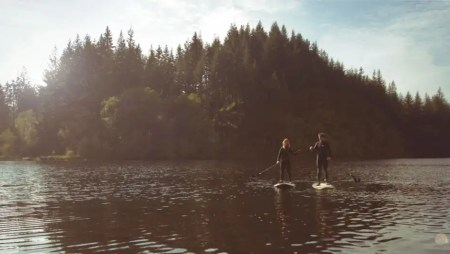 Loco SUP on Location at Loch Ard in the Scottish Highlands