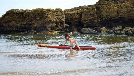 "Witness the Fitness with the Loco 12'6"" Race Tourer Stand Up Paddle Board"