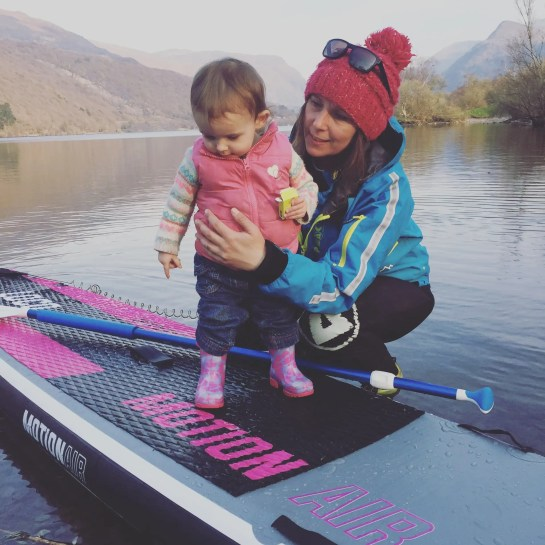 Aunty Sian with Niece paddle boarding on 12'6'' Loco Motion Air iSUP