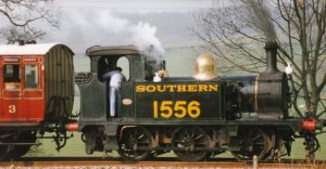 1997 - Tenterden Bank - Ex-SECR Southern Railway P class 1556 (black and lined green)