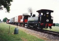 1995 - (Sheffield Park - Horsted Keynes) - LSWR B4 class 96 Normandy & 3 Baxter