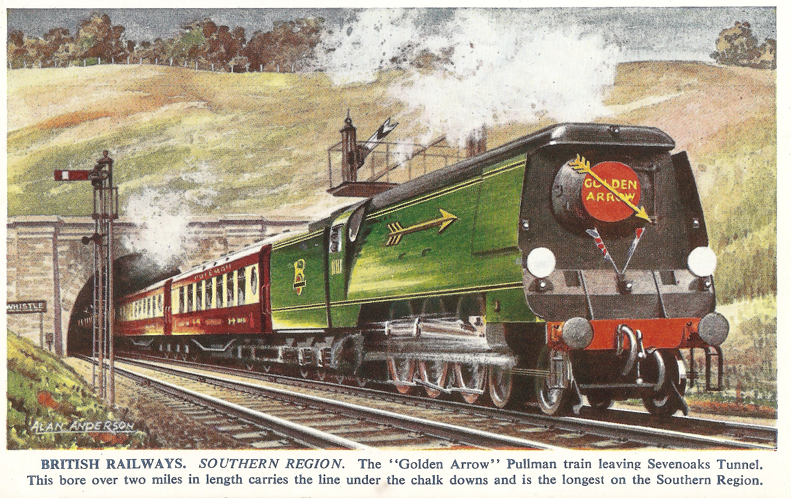 Golden Arrow Postcard From The 1950s From Nick Littlewood