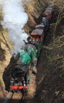 2014 - Watercress Line - Spring Steam Gala - Medstead & Four Marks - 850 Lord Nelson - Demonstration Goods