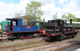 2014 Kent and East Sussex Railway 40th Anniversary Gala Tenterden Town Sentinal 0-4-0 10 Gervase A1X Terrier ex-LBSCR 32678