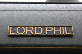Nov 2014 Peak Rail Rowsley South - Hunslet Austerity 0-6-0ST Lord Phil nameplate