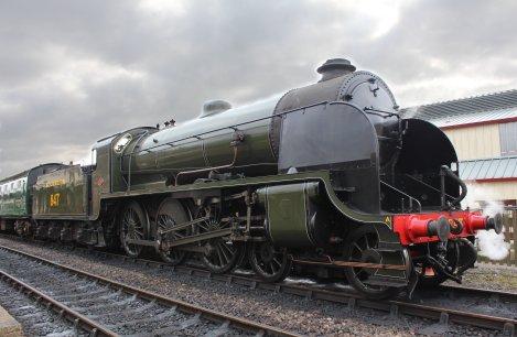 Bluebell Railway - Sheffield Park - Southern Railway Maunsell S15 class 847