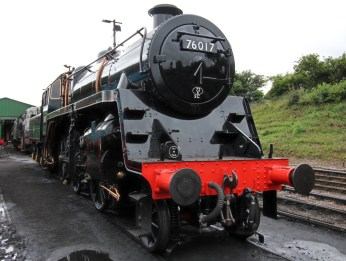 Ropley Watercress Line July 28th 2016 (11) BR Standard 4MT 2-6-0 76017