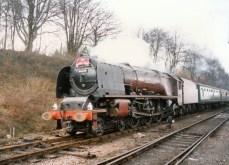 Watercress Line Mid Hants Railway 1990s (4) Ropley LMS Princess Coronation Class 6229 Duchess of Hamilton