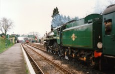 Watercress Line Mid Hants Railway 1990s (6) Medstead and Four Marks BR Standard 5MT 73096
