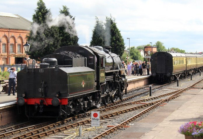 Severn Valley Railway Kidderminster July 2016 Ivatt 4MT 2-6-0 43106 mucky duck (02)