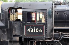 Severn Valley Railway Kidderminster July 2016 Ivatt 4MT 2-6-0 43106 mucky duck (05) cab