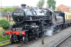 Severn Valley Railway Kidderminster July 2016 Ivatt 4MT 2-6-0 43106 mucky duck (10)