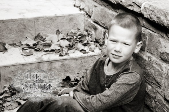 boy sitting on the stairs