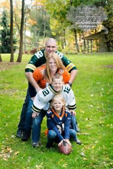 Family group wearing jerseys