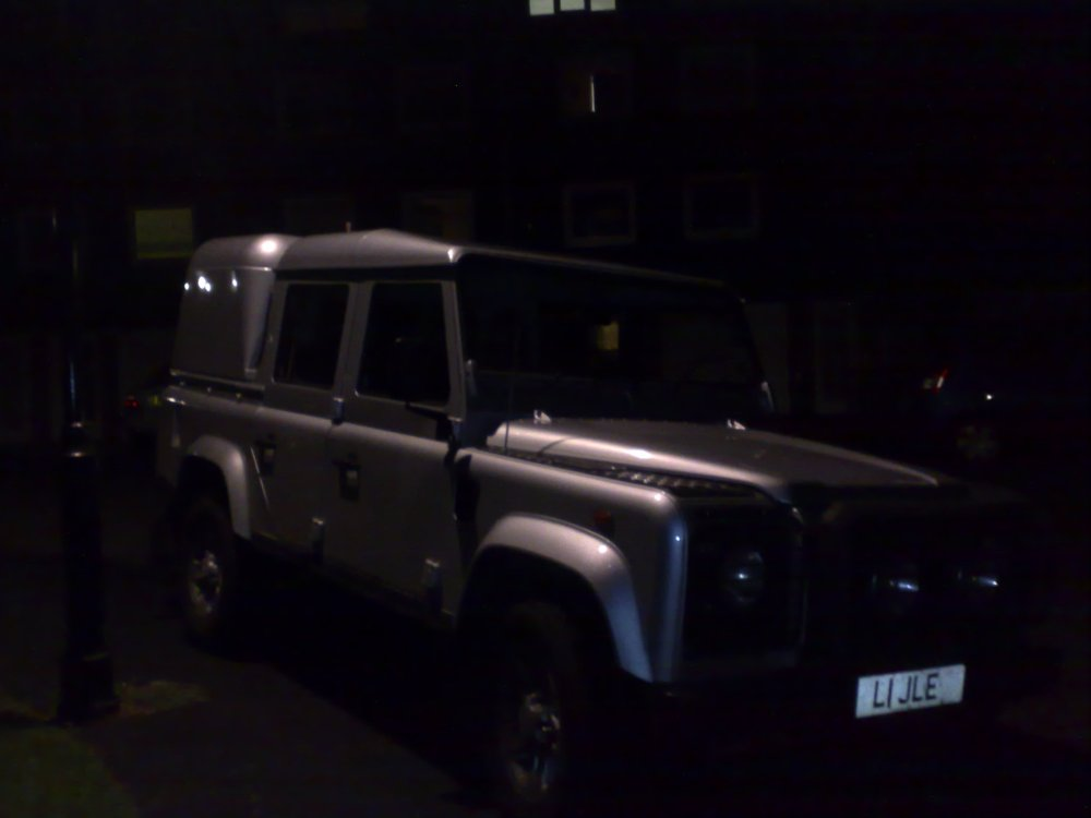 medium resolution of land rover defender 110 silver doublecab