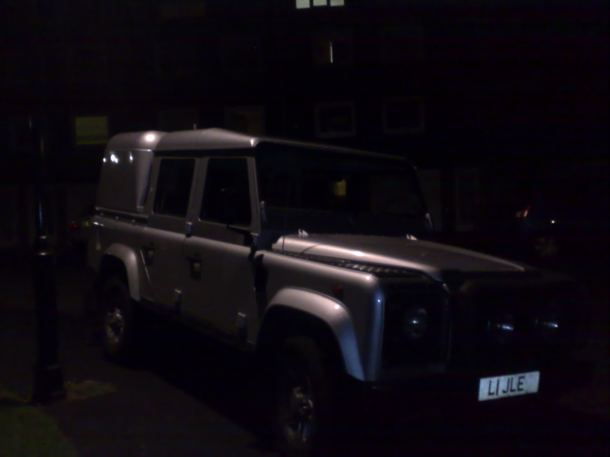 hight resolution of land rover defender 110 silver doublecab