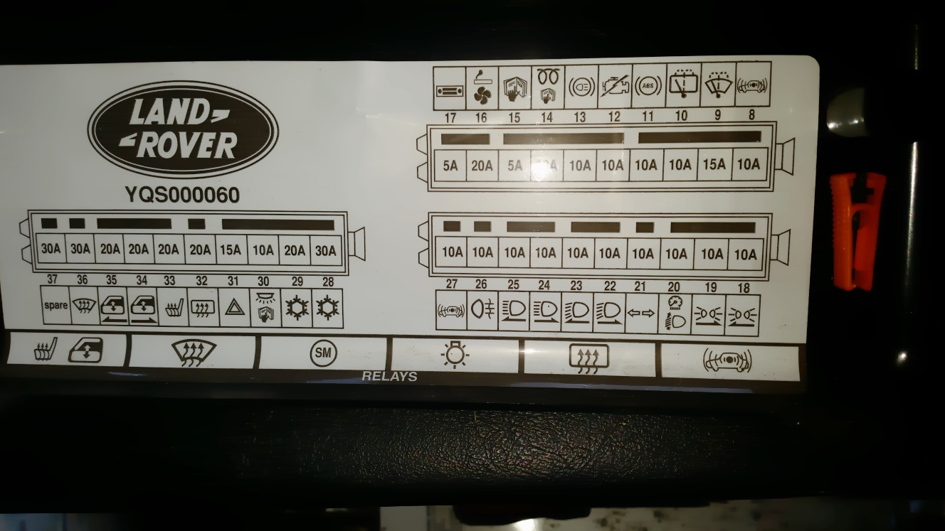 hight resolution of land rover td5 fuse box wiring diagram for you land rover discovery 2 fuse box land