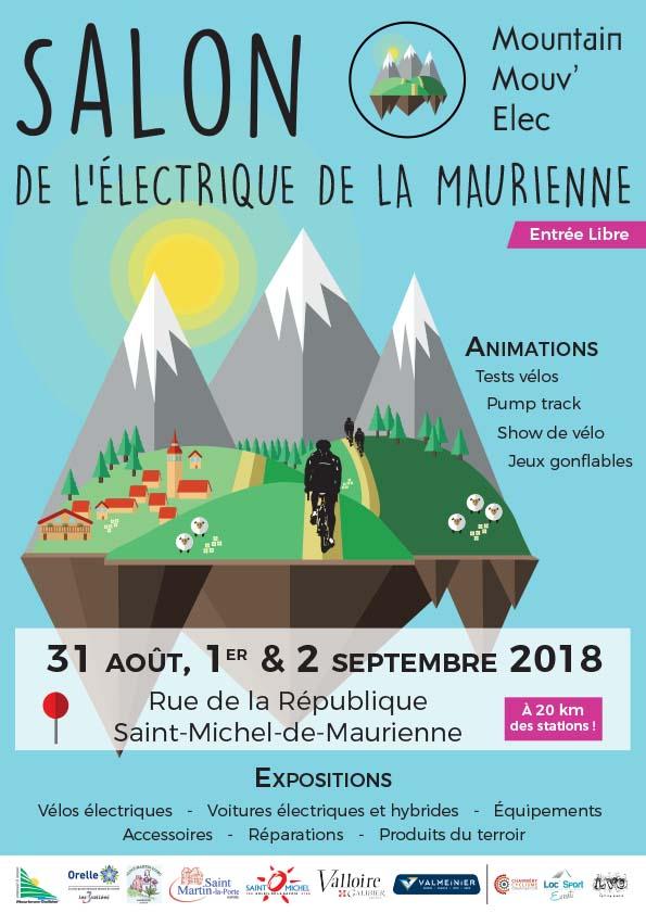 Mountain Mouv' Elec : Affiche du salon de l'électrique de la Maurienne