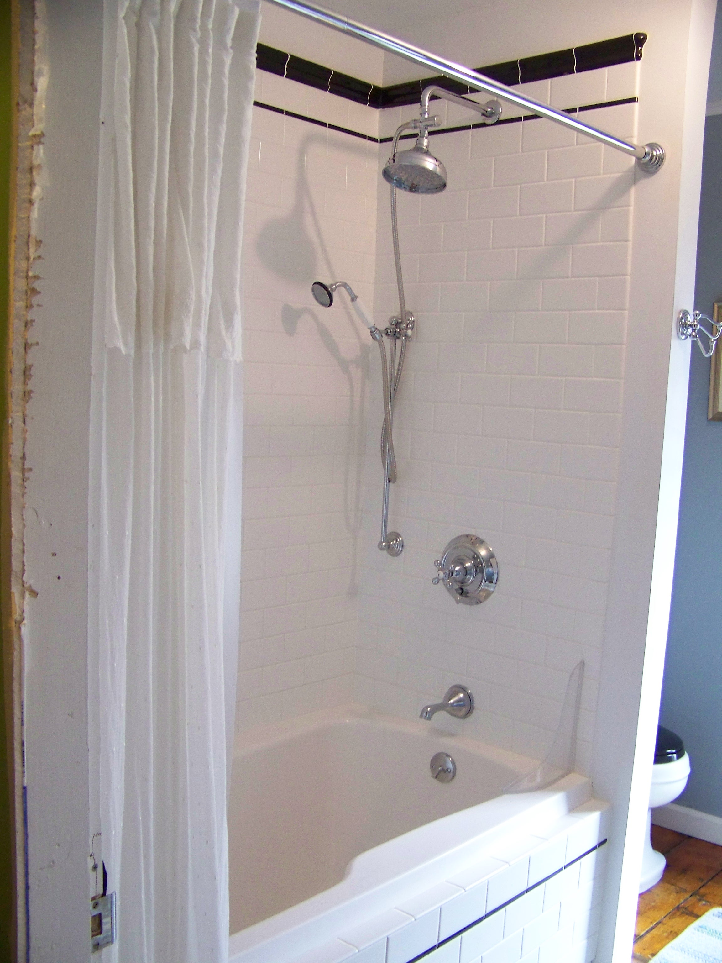 images of small country living rooms how to decorate modern room subway tiled shower with chrome fixtures and handheld ...