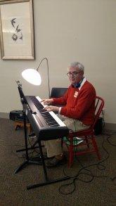 Bob provided music in the auditorium.