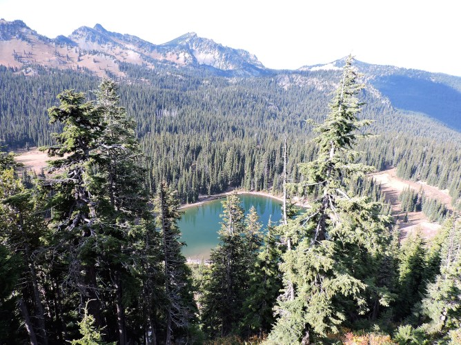 One of the many alpine lakes in the park