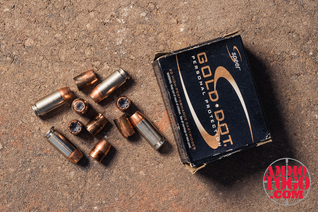 a photo of Speer Gold Dot, 165-grain HP ammo outside