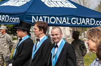 Thumbnail for the post titled: Masons Visit James Buchanan Graveside Ceremony