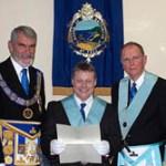 Grand Lodge Certificate presentation