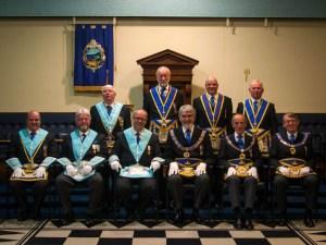 Honoured Brethren at the Golden Jubilee Installation