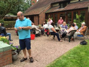 Garden Party host W.Bro. Howard Smith and guests