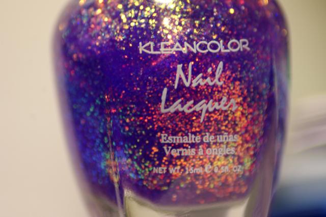 Klean Color – Chunky Holo Purple : Une nébuleuse sur mes ongles !