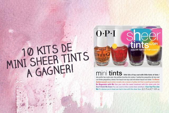 Concours OPI : 10 kits de Mini Sheer Tints à gagner!