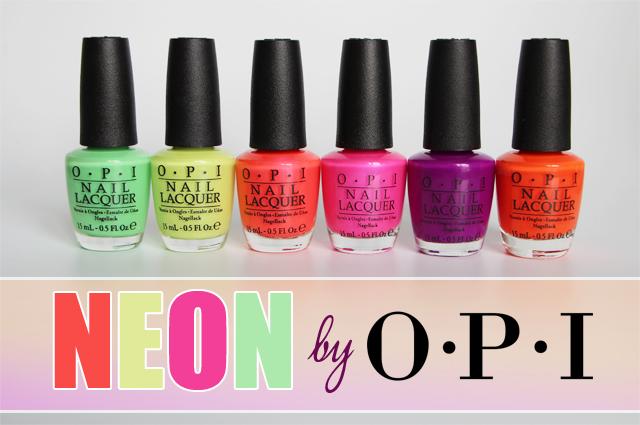 Voir l'été en Néon avec OPI !