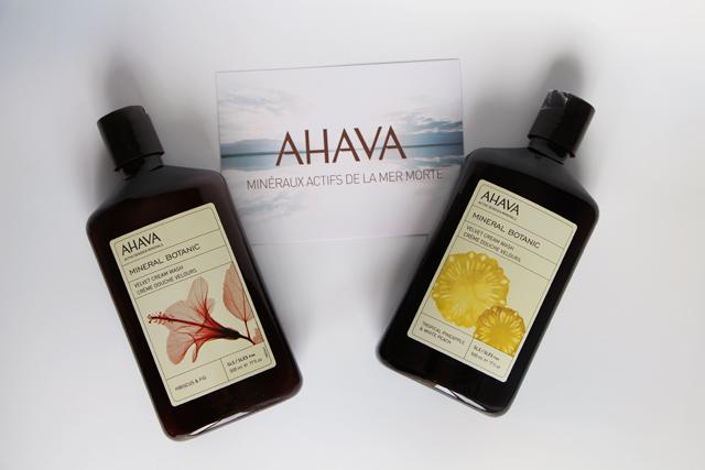 Les crèmes douche velours Mineral Botanic d'AHAVA