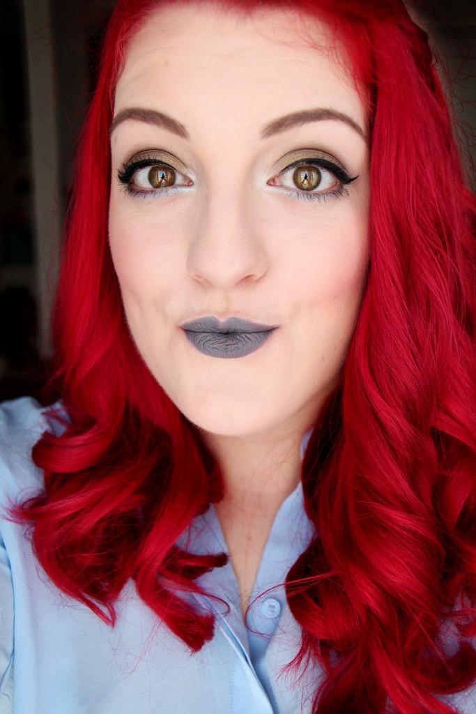 mac halsey lips fun lipstick grey