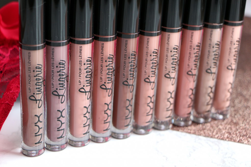 lingerie nyx lipsticks nude collection