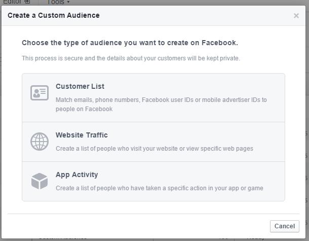 facebook type of audience