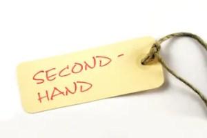 """""""Second Hand"""" – Plakette mit Kordel"""