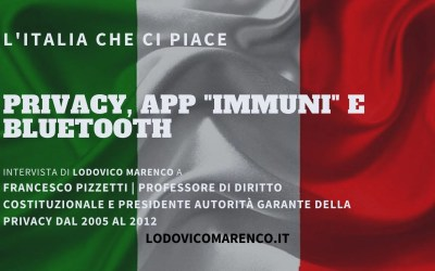 "PRIVACY – APP ""IMMUNI"" E BLUETOOTH 