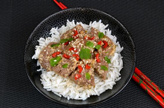 Limetten-Sesam-Rindfleisch