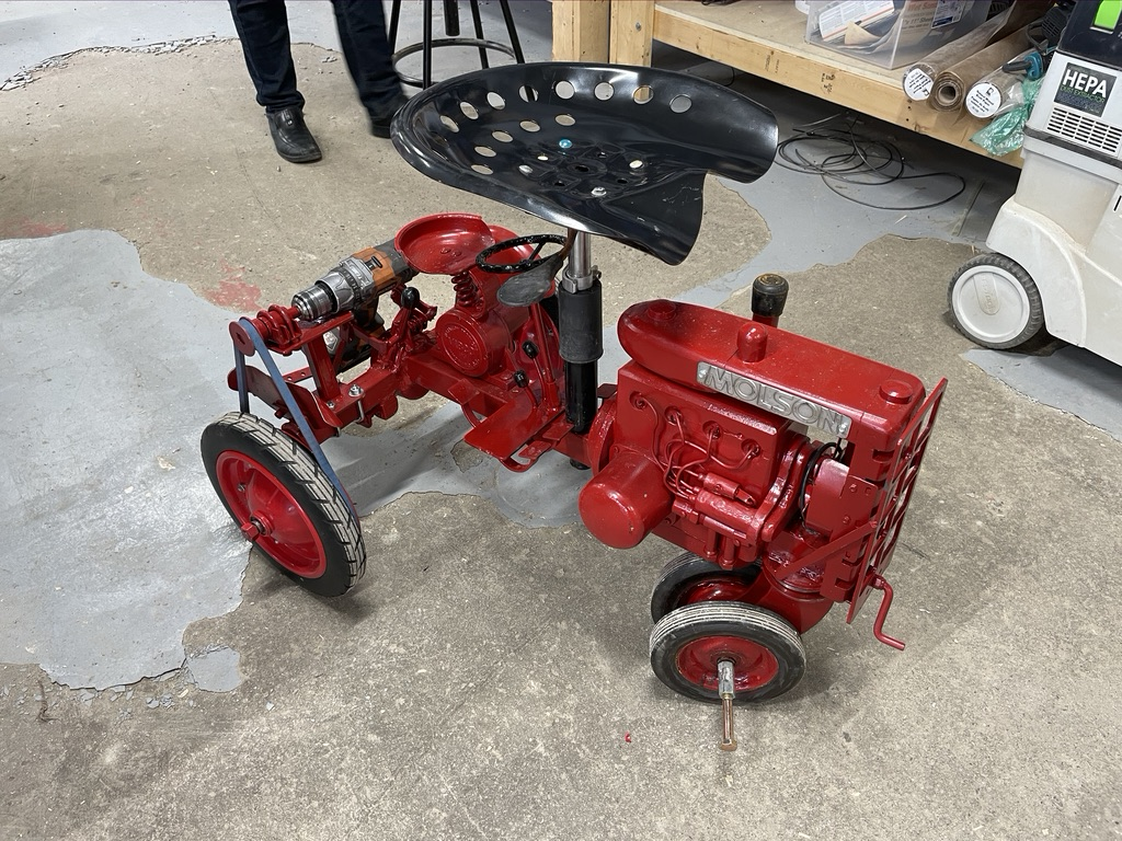 Reg's tractor Chair