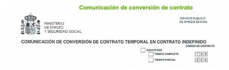 Conversion del contrato de trabajo