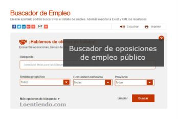Buscador de oposiciones de empleo público