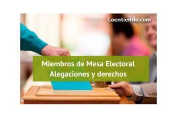 Alegaciones contra la designación como miembro de Mesa Electoral