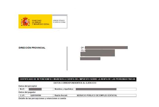 paso 10 certificado irpf sepe inem descargado