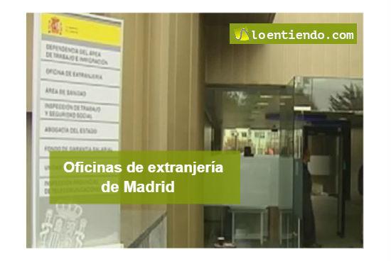 Oficinas extranjería Madrid