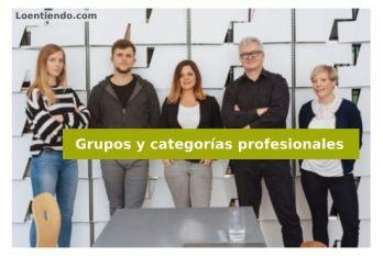 Grupos y categorías profesionales